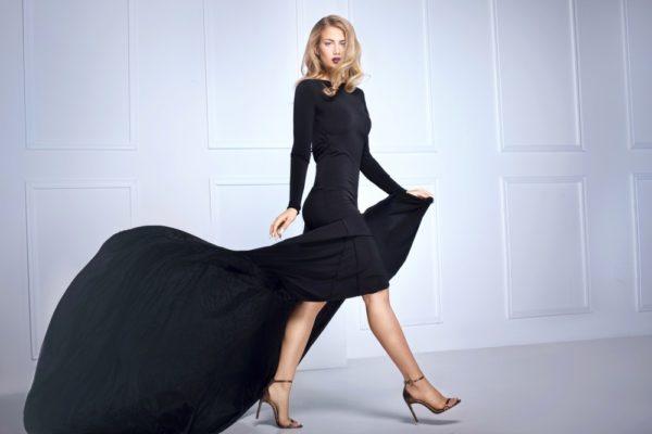 платья на выпускной: черное шикарное