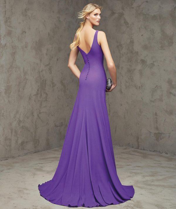 платья на выпускной: Фиолетовое с открытой спиной
