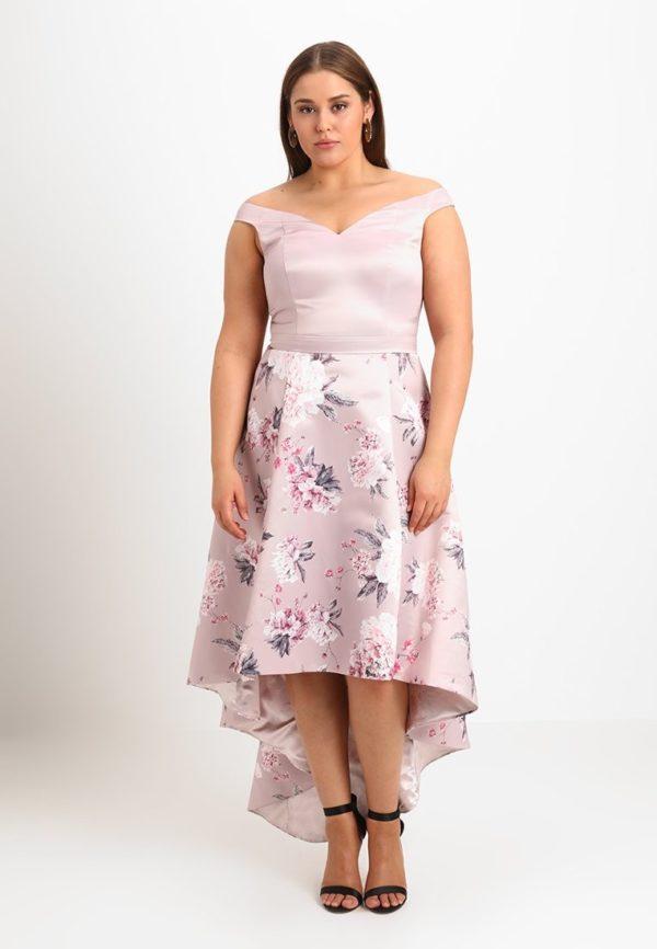 Платья на выпускной 9 класс: фиолетовое с открытыми плечами