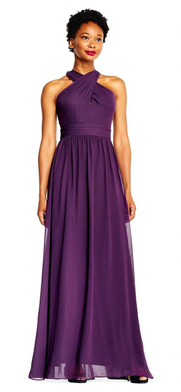 выпускное платье 9 класса: Длинное фиолетовое