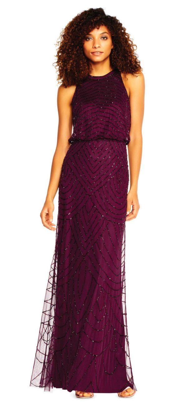 Платья на выпускной 9 класс: Фиолетовое греческое длинное