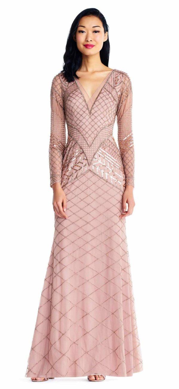 Платья на выпускной 2018 9 класс: Розовое платье длинное