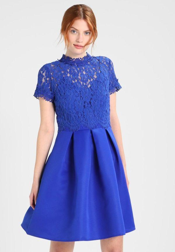 Платья на выпускной 9 класс: Короткое синее