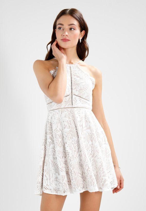 Платья на выпускной 9 класс: Короткое белое
