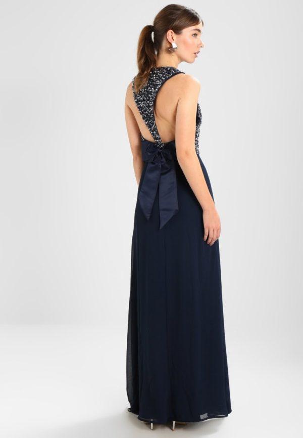 Платья на выпускной 2018 9 класс: Синее платье длинное