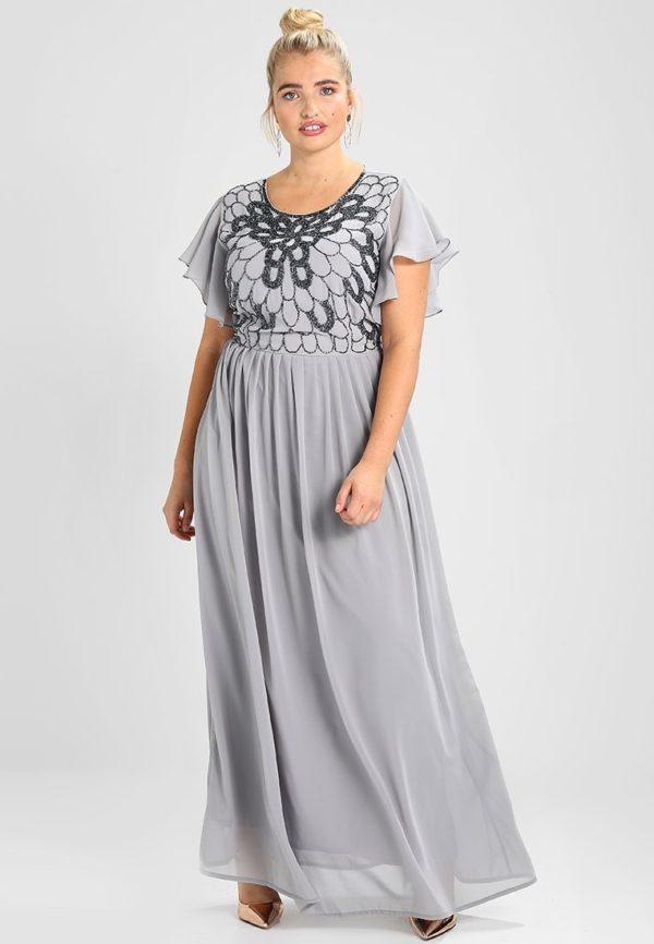 выпускное платье 9 класса: Длинное серое