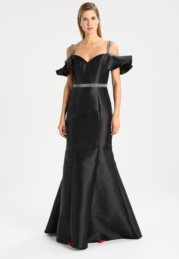 выпускное платье 9 класса: Длинное черное