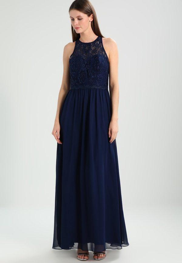выпускное платье 9 класса: Длинное темно-синее