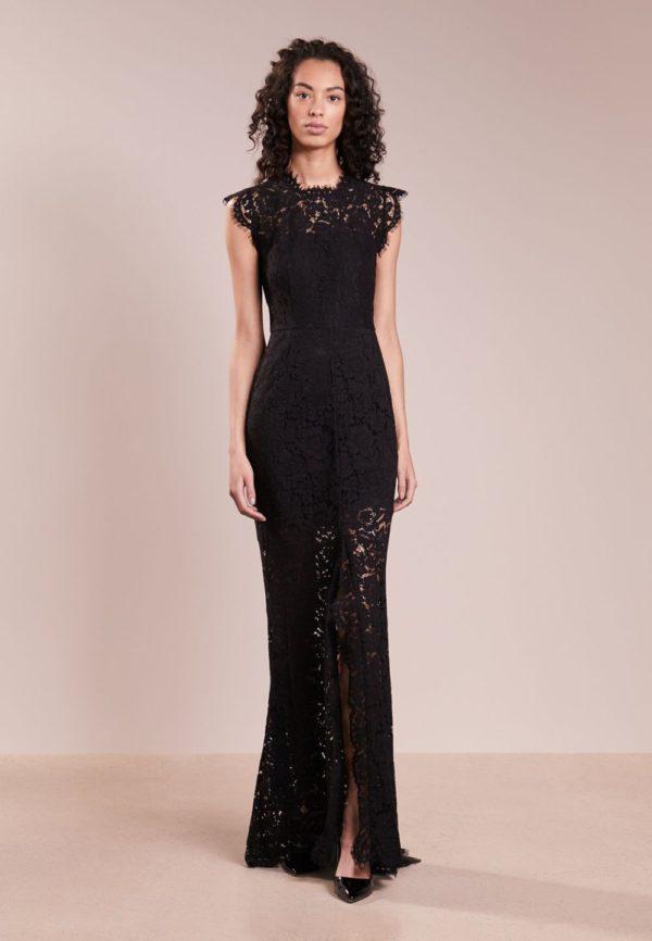 выпускное платье 9 класса: Прозрачное черное длинное