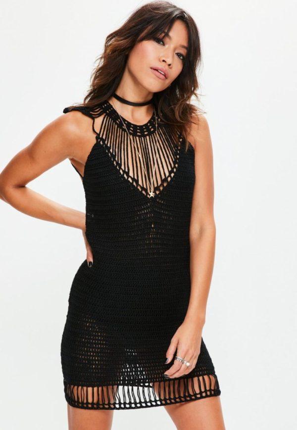 выпускное платье 9 класса: Прозрачное черное короткое