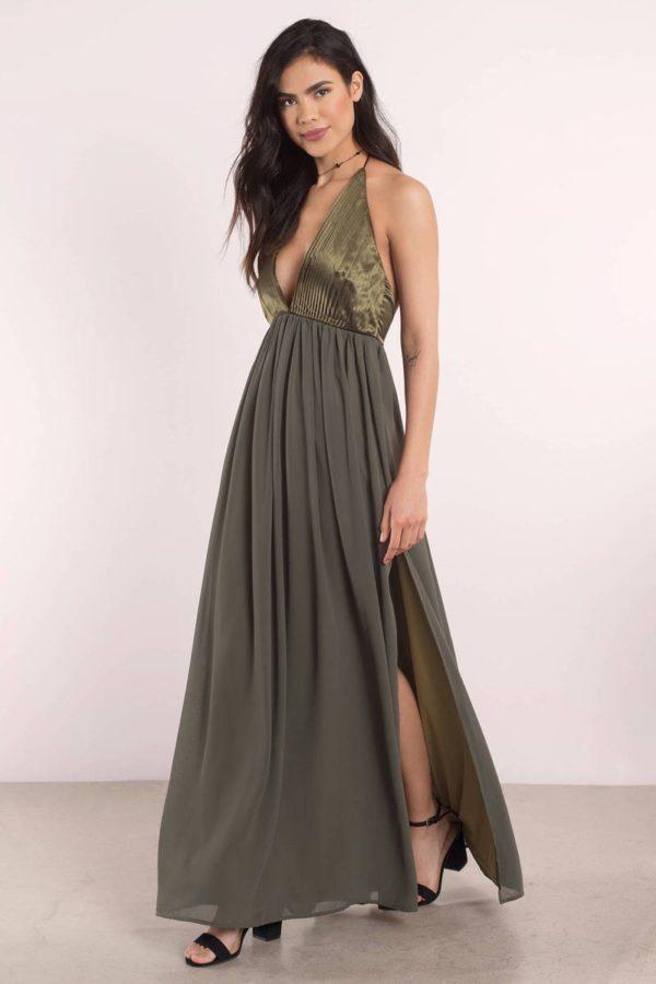 Платья на выпускной 9 класс: Греческое зеленое длинное