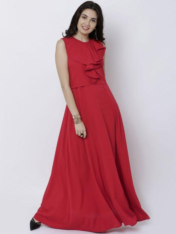 платья на выпускной: красное