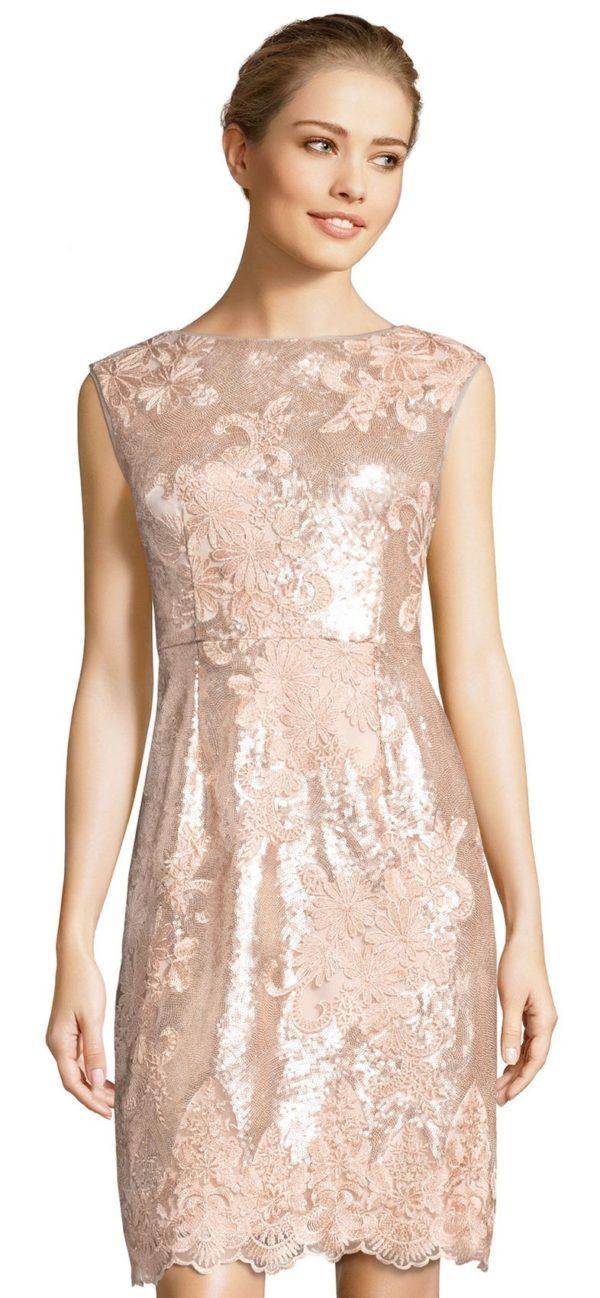 платья на выпускной: розовое блестящее