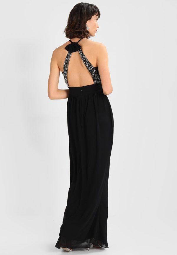платья на выпускной: Черное с открытой спиной