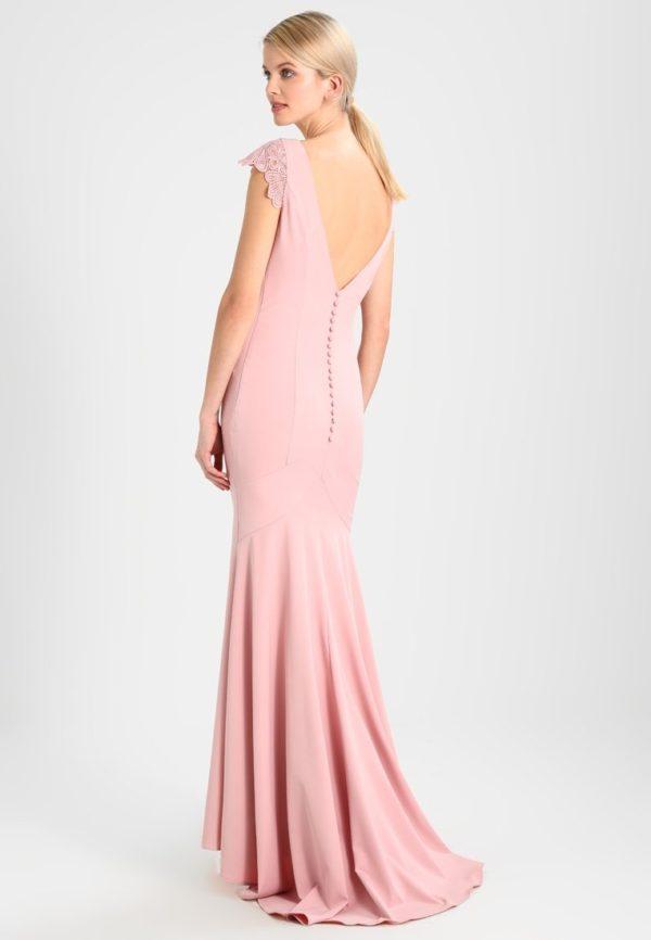 платья на выпускной: Розовое с открытой спиной