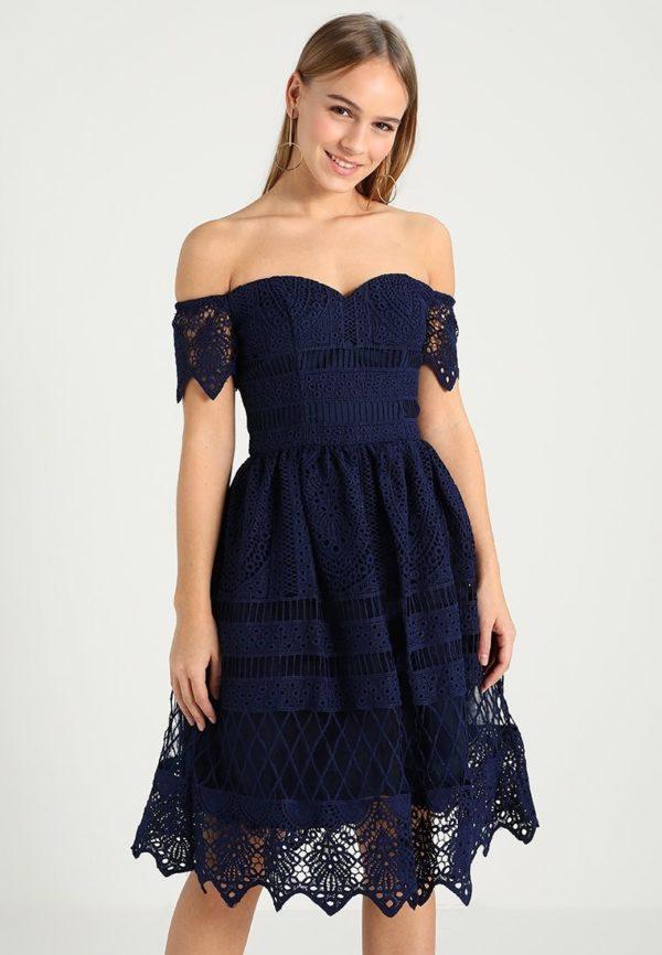 выпускное платье: Коктейльное темно-синее
