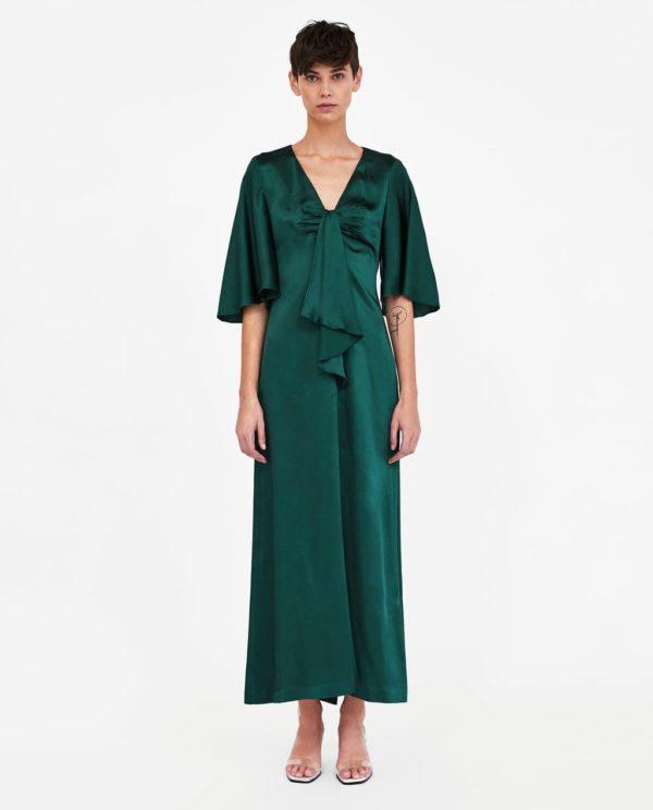 платья на выпускной 2019: зеленое