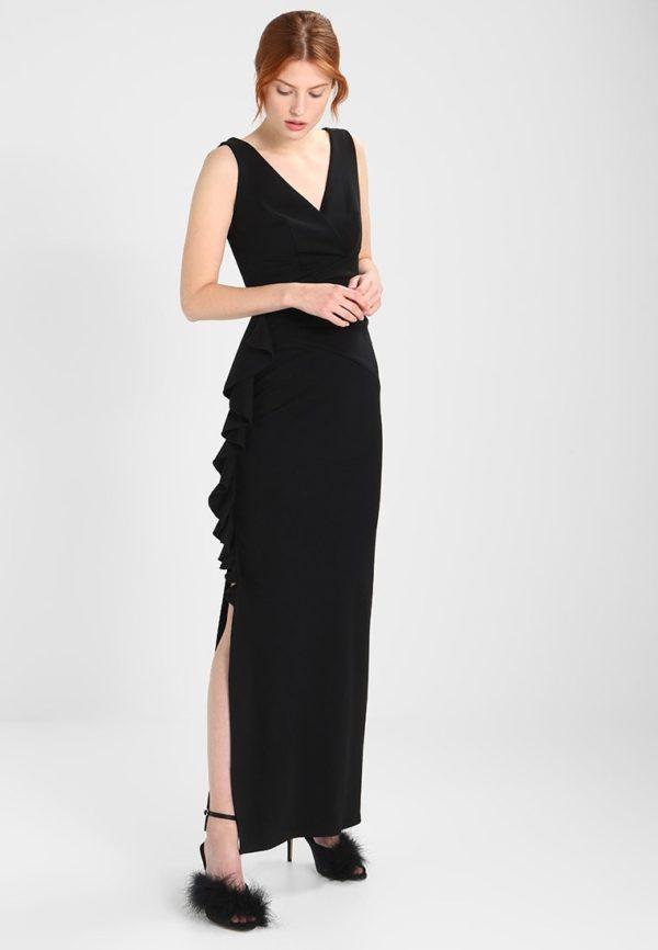 выпускное платье: Коктейльное черное длинное