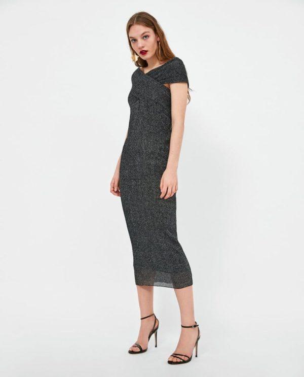 платья на выпускной 2019: серое длинное