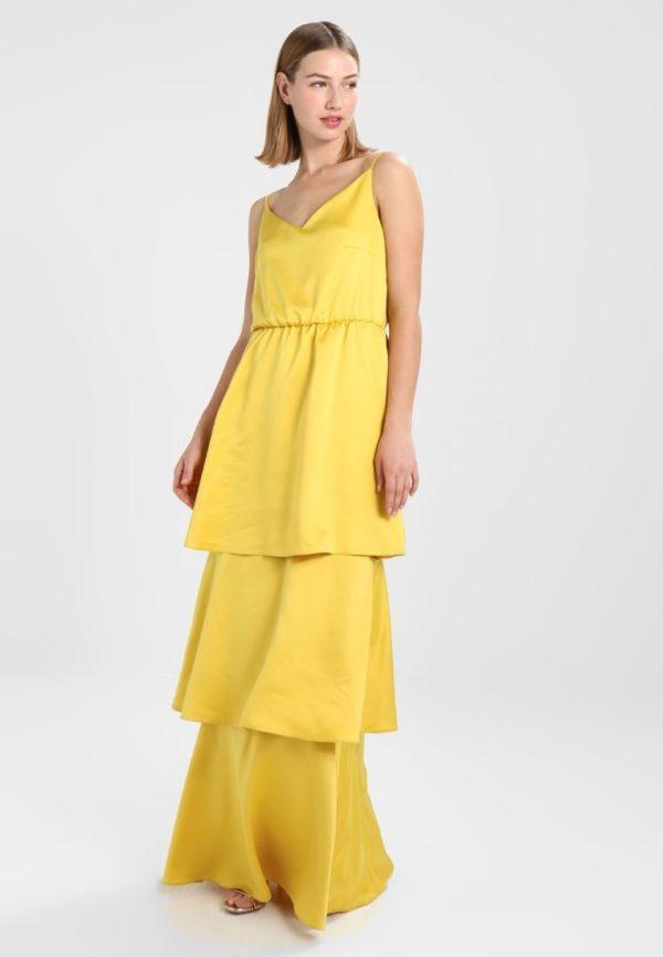 выпускное платье: Коктейльное желтое длинное