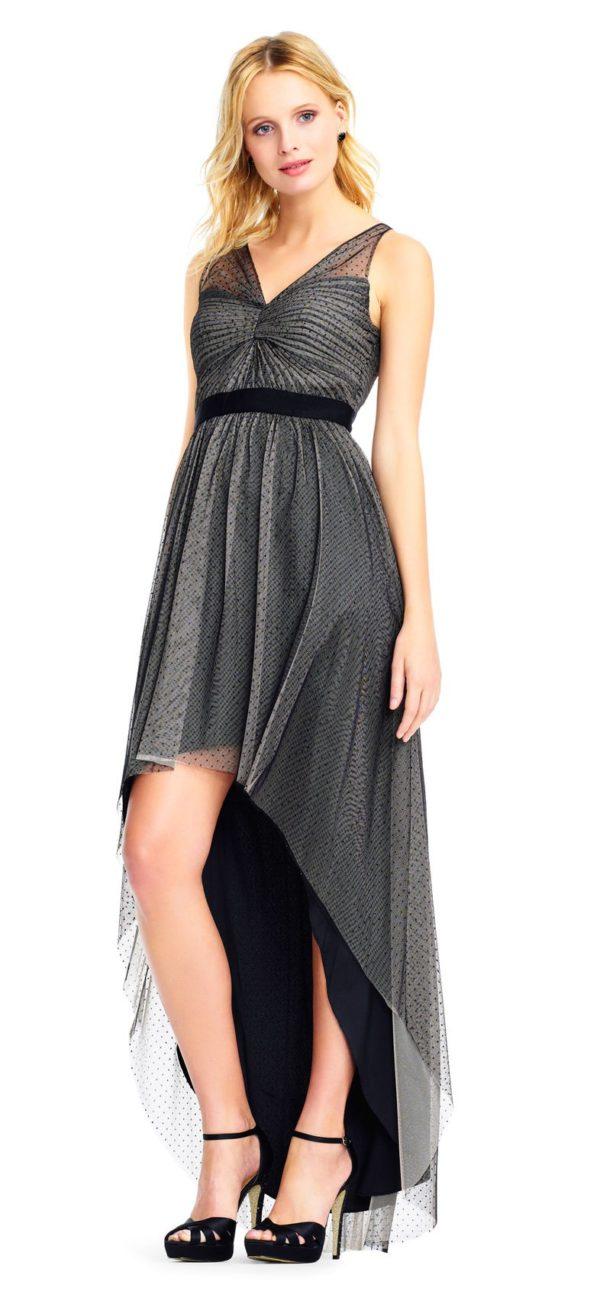 выпускное платье: плиссе серое