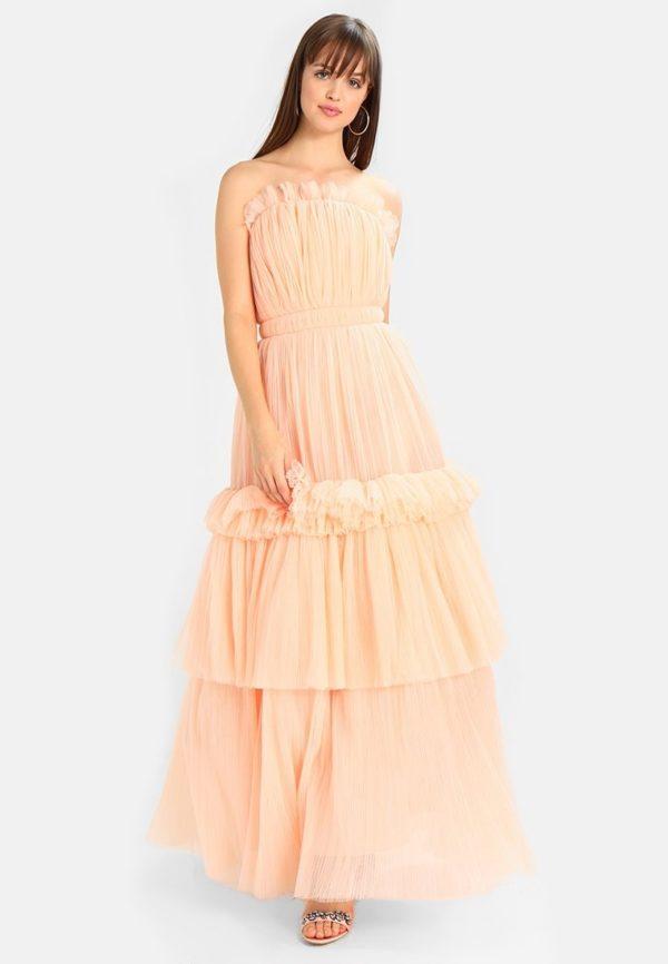 выпускное платье: плиссе розовое