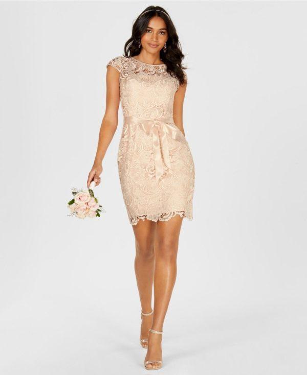 Свадебная мода 2019-2020: бежевое платье