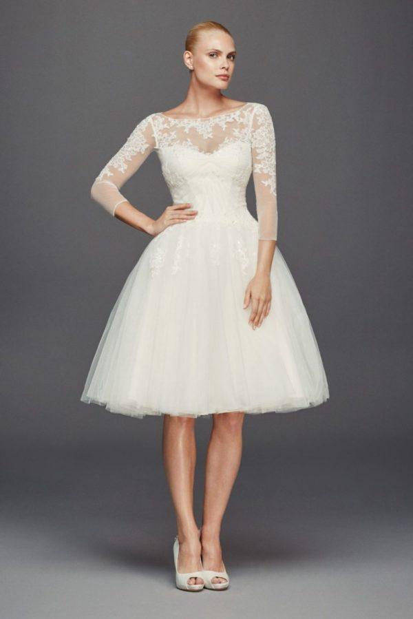 белое короткое платье