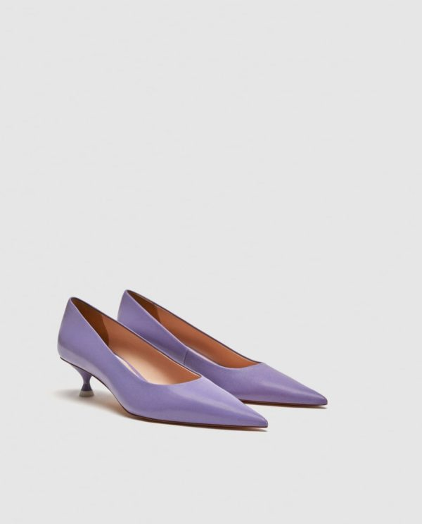 Модные женские туфли: фиолетовые лодочки