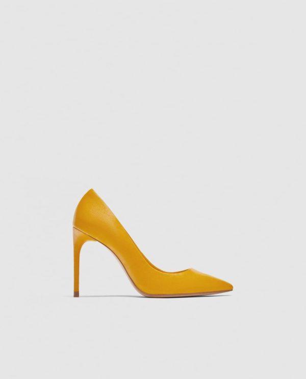Модные женские туфли: желтые лодочки