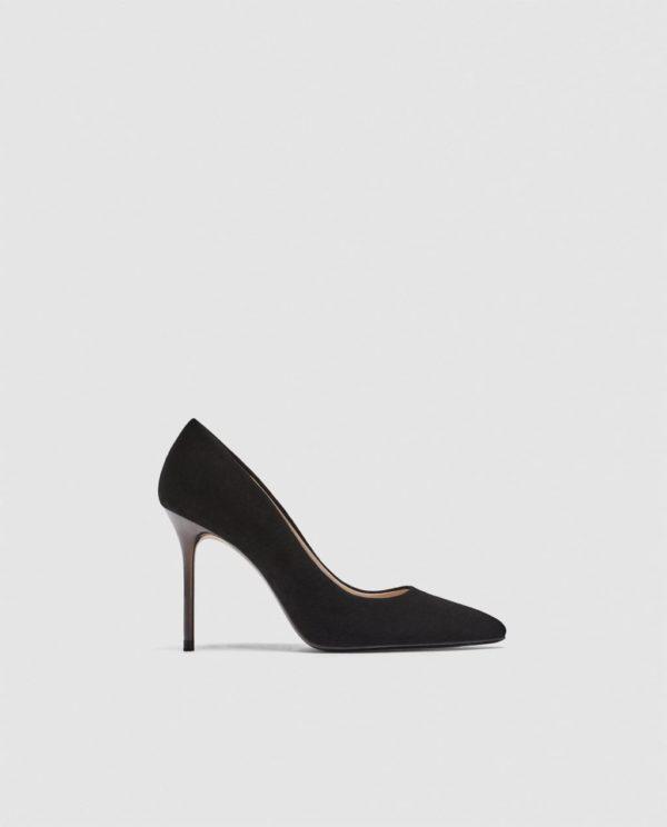 Модные женские туфли: черные лодочки