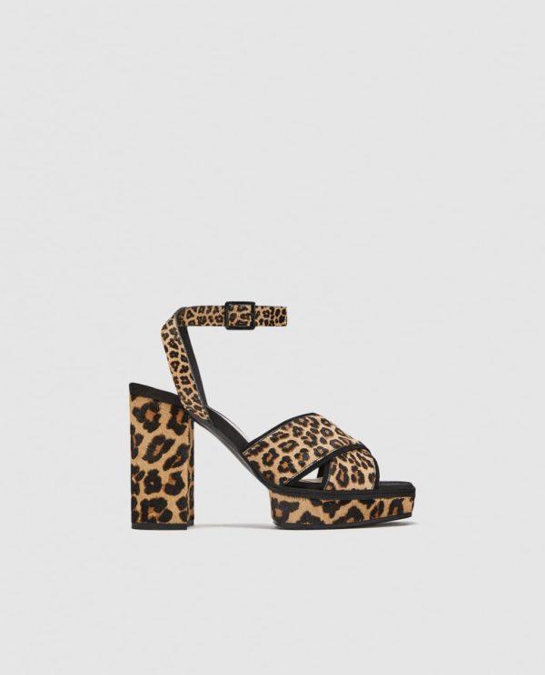 Модные женские туфли: тигровые на толстом каблуке