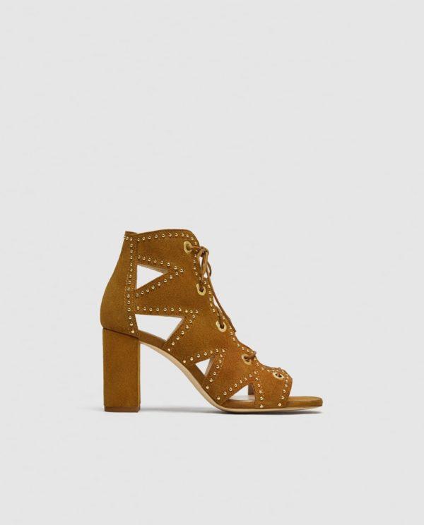Модные женские туфли: желтые на толстом каблуке