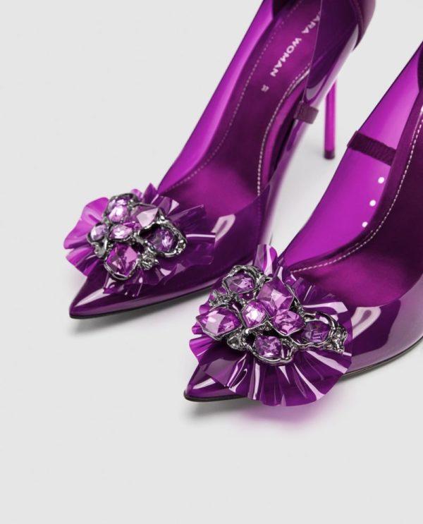 Модные женские туфли 2019-2020 года: фиолетовые