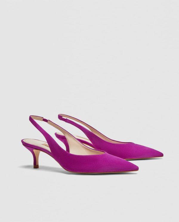 фиолетовые pump slingback