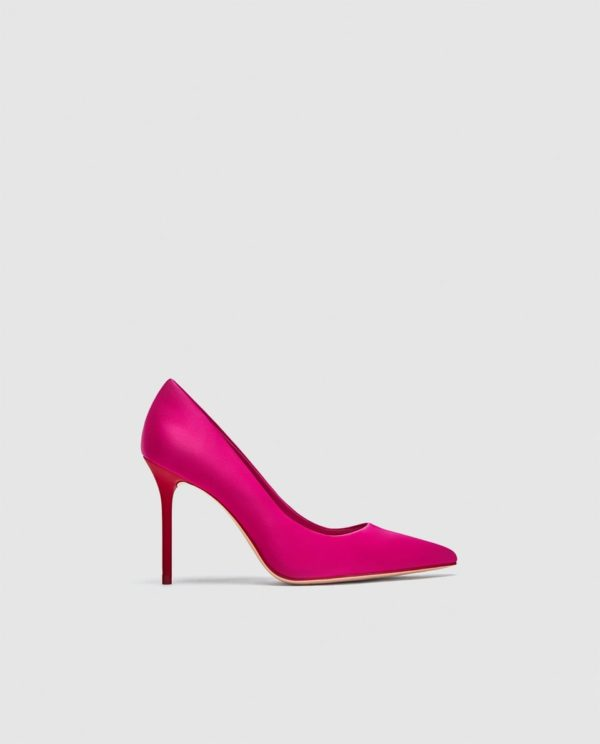 Модные женские туфли: красные лодочки