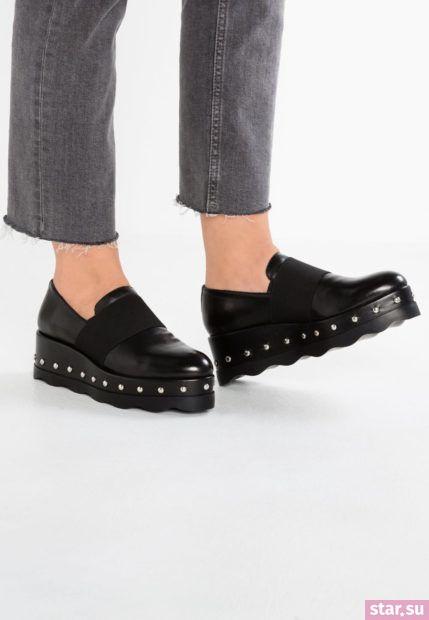 обувь на танкетке осень-зима