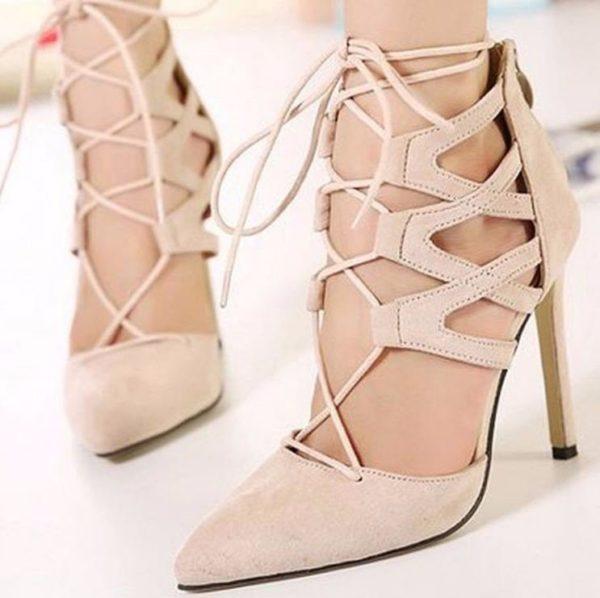 розовые туфли со шнуровкой осень-зима 2019-2020