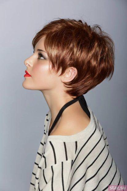 женская стрижка на короткие волосы 2020-2021 после 40 лет