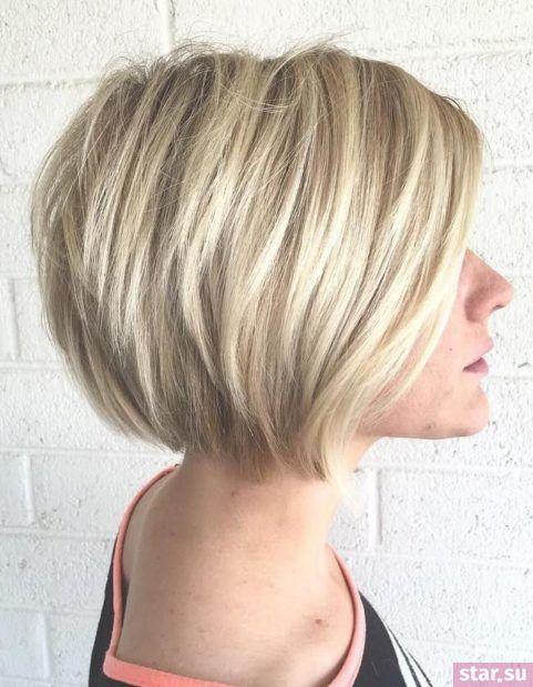 Стрижка боб на короткие волосы после 40 лет