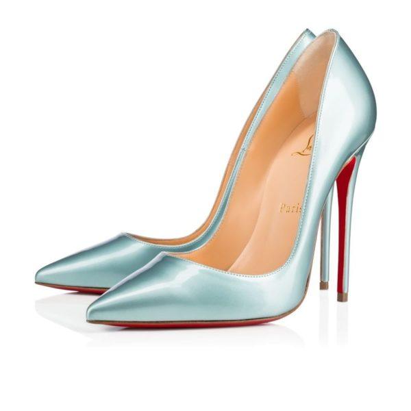 туфли лабутены: голубые