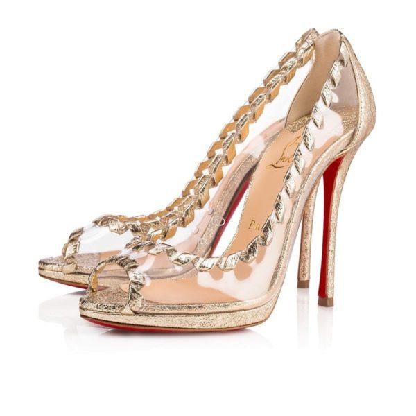 туфли лабутены: золотые