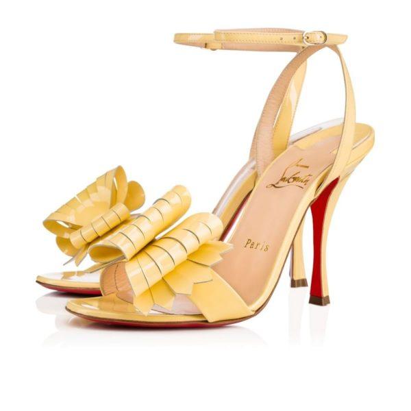 туфли лабутены: желтые