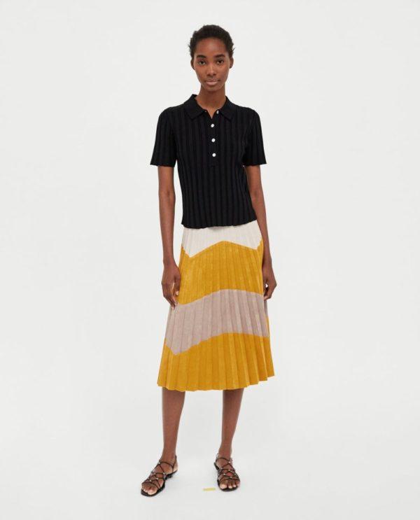 летние юбки 2019 года: цветная