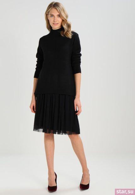 Летняя черная юбка плисе 2018 года