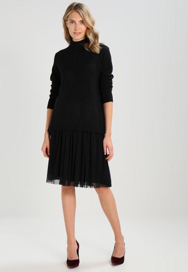 Летняя черная юбка плисе 2019 года