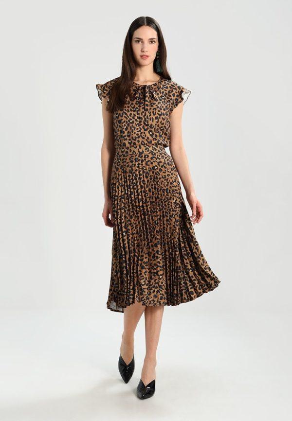 Летняя тигровая юбка плисе 2019 года