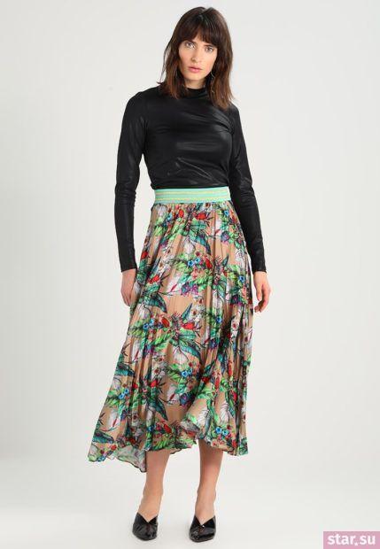 Летняя цветная юбка плисе 2018 года
