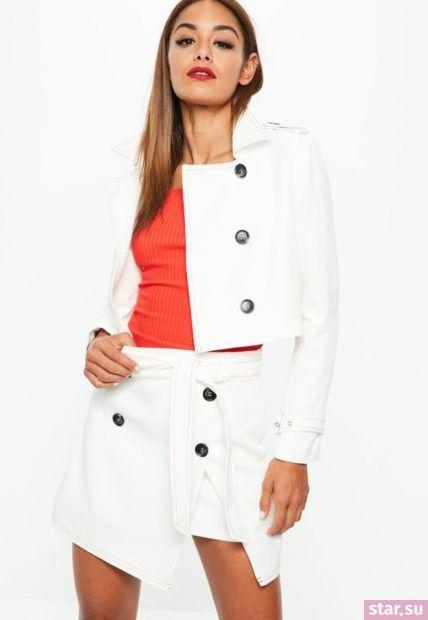 Летняя белая юбка с запахом 2018 года