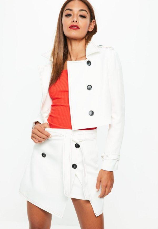 Летняя белая юбка с запахом 2019 года
